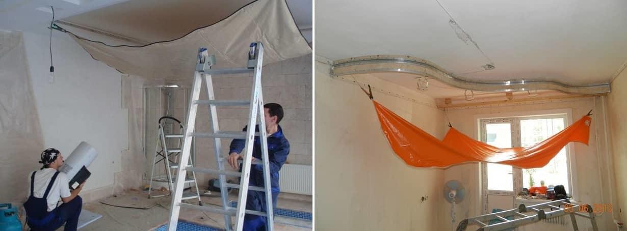 barrisol stropovi - montaža