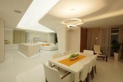svjetleći stretch  strop s LED rasvjetom